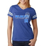 Adult 3D Wildkats Ladies Vintage Royal SS Football Jersey